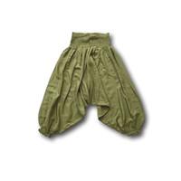 Fishermanspants Kinder harembroek groen (6-7 jaar)