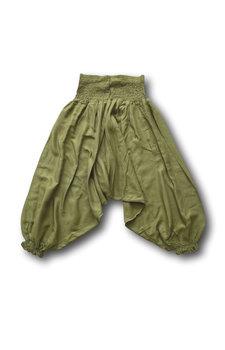 Kinder harembroek groen (6-7 jaar)