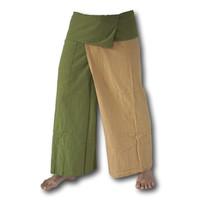 Fishermanspants duo color groen