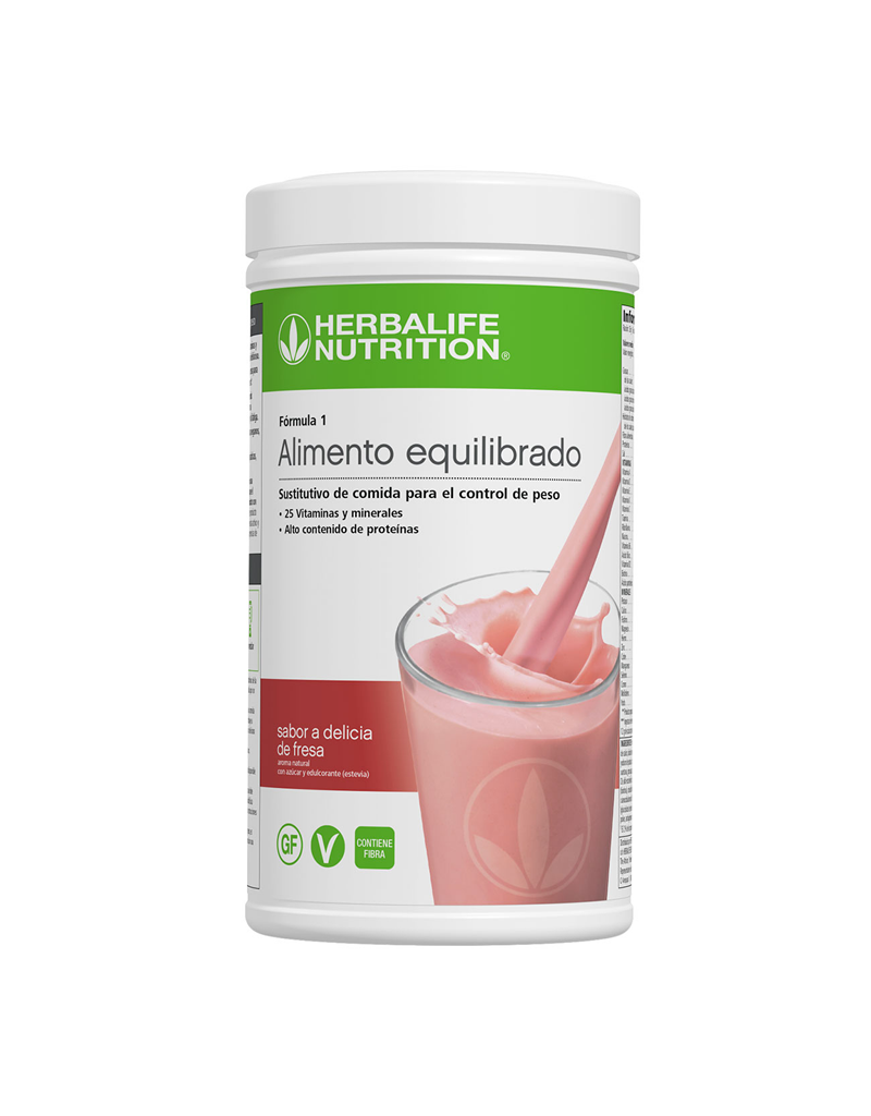 Programa Desayuno Saludable Herbalife Delicia de Fresa