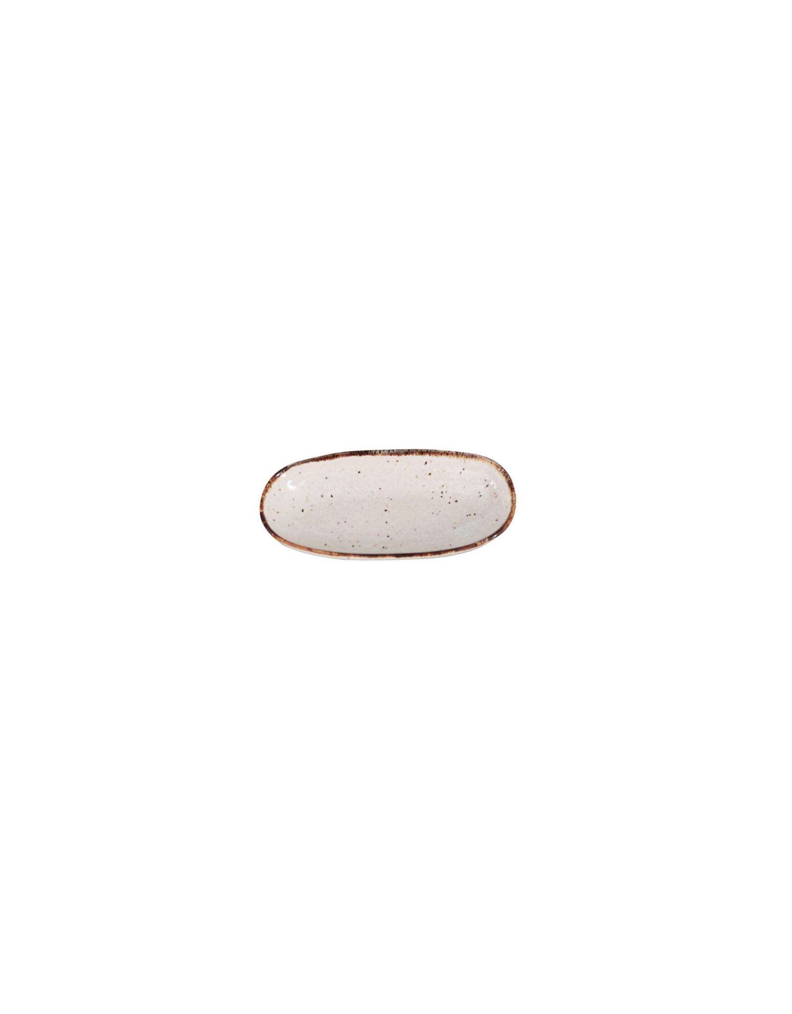 Kitchen Trend Schaal Stone ovaal mini creme