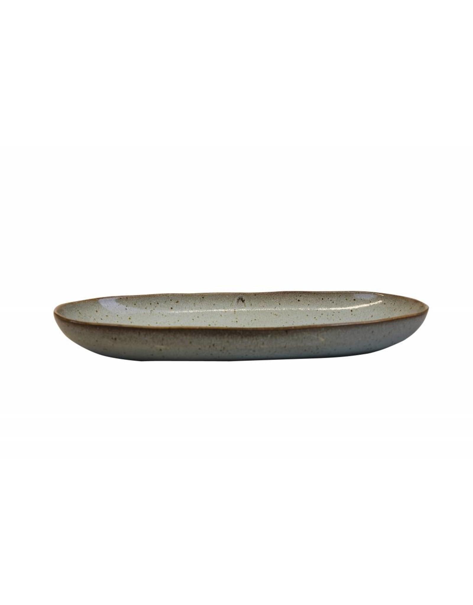 Kitchen Trend Medium ovale schaal Stone zeegroen