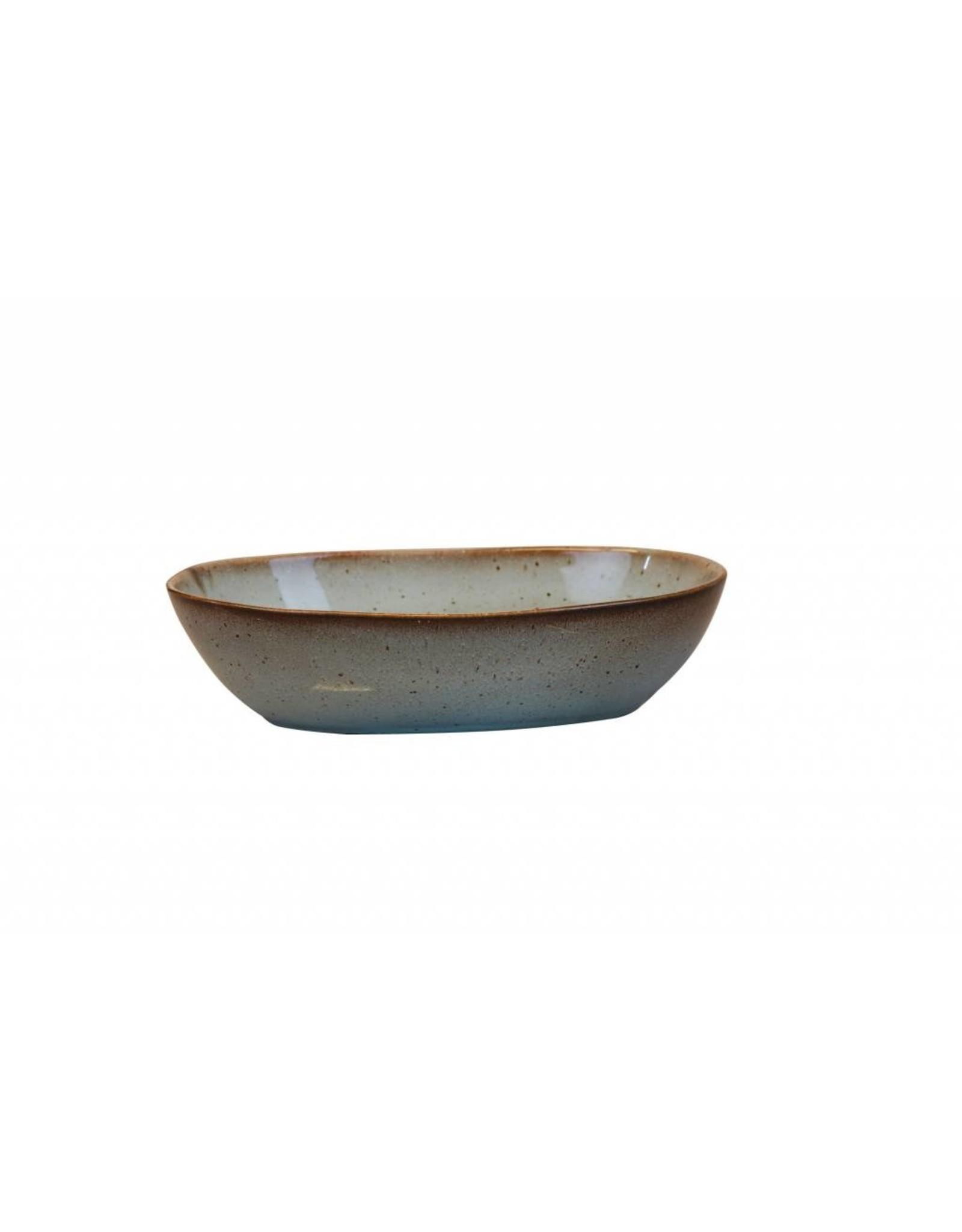 Kitchen Trend Stone schaal ovaal diep medium in zeegroen