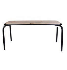 Kitchen Trend Bank metaal/hout mat zwart klein