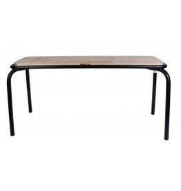 Kitchen Trend Bank metaal/hout mat zwart groot