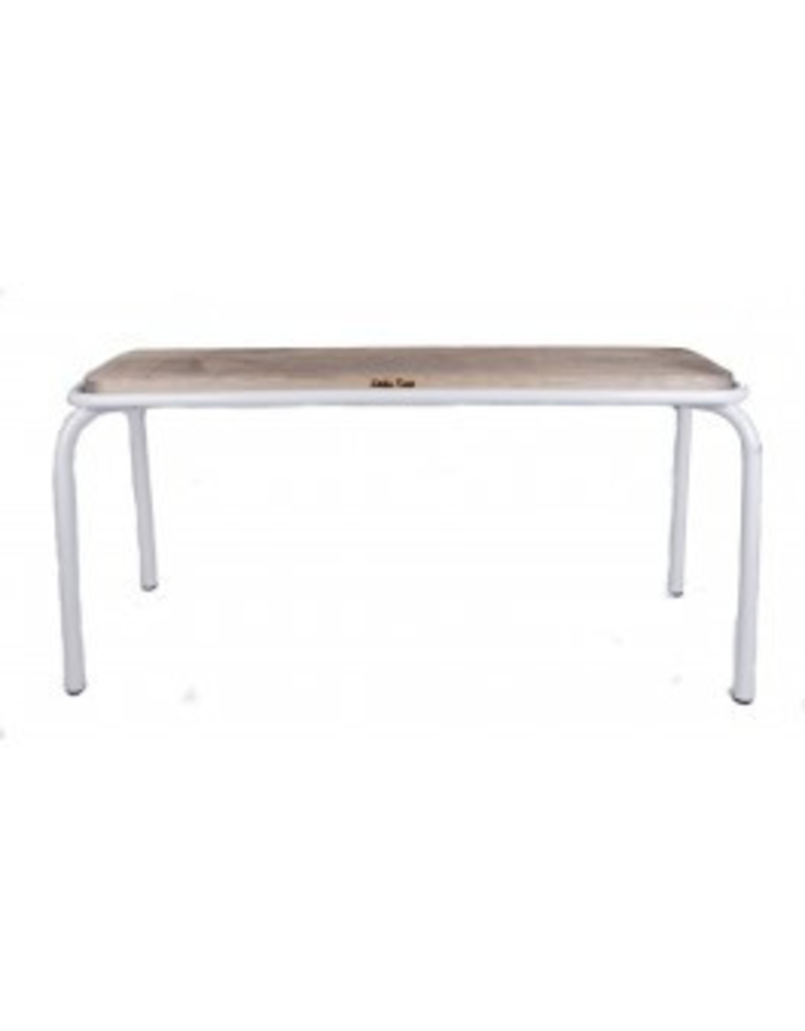 Kitchen Trend Bank metaal/hout mat wit groot