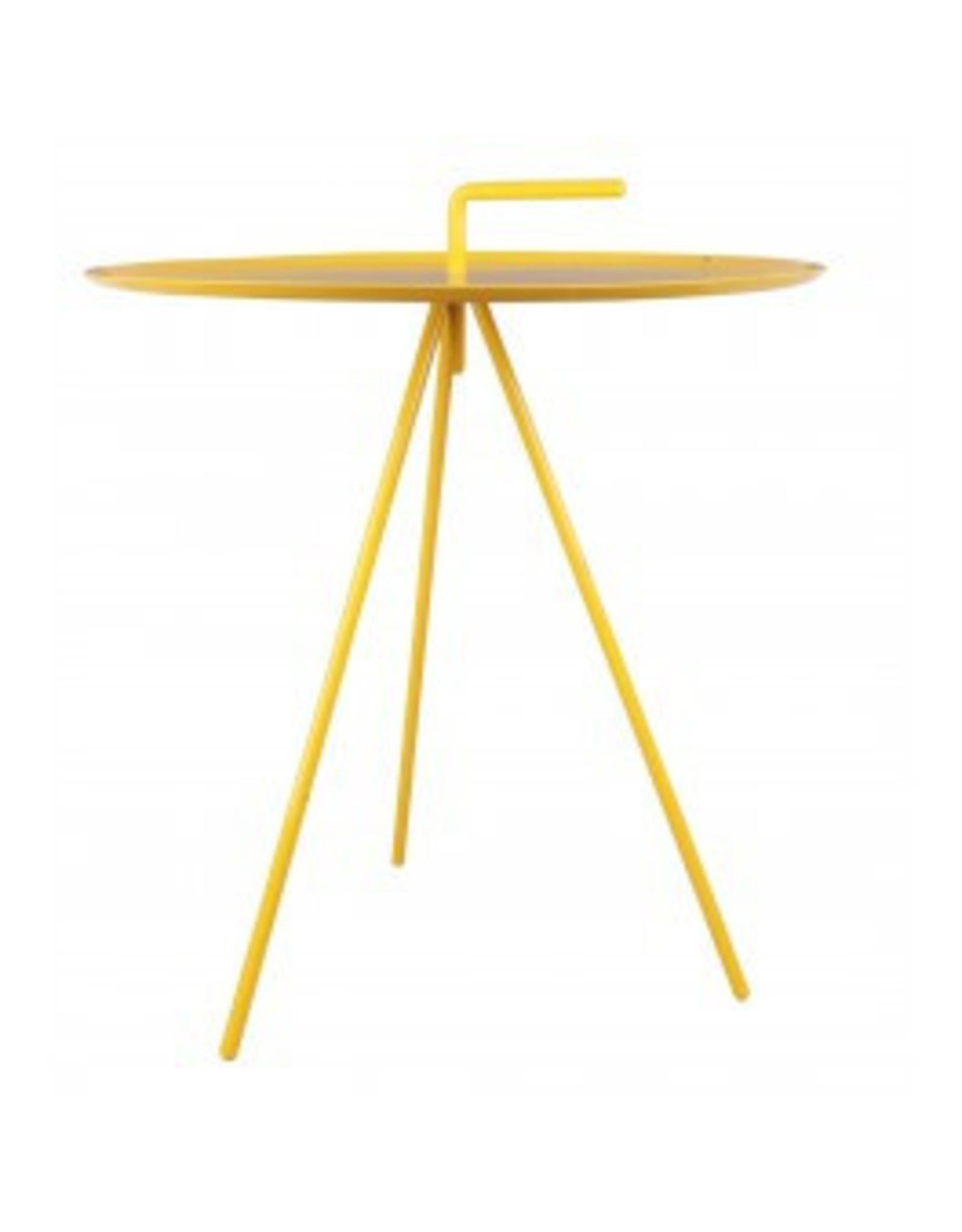 Kitchen Trend Bijzettafel rond geel