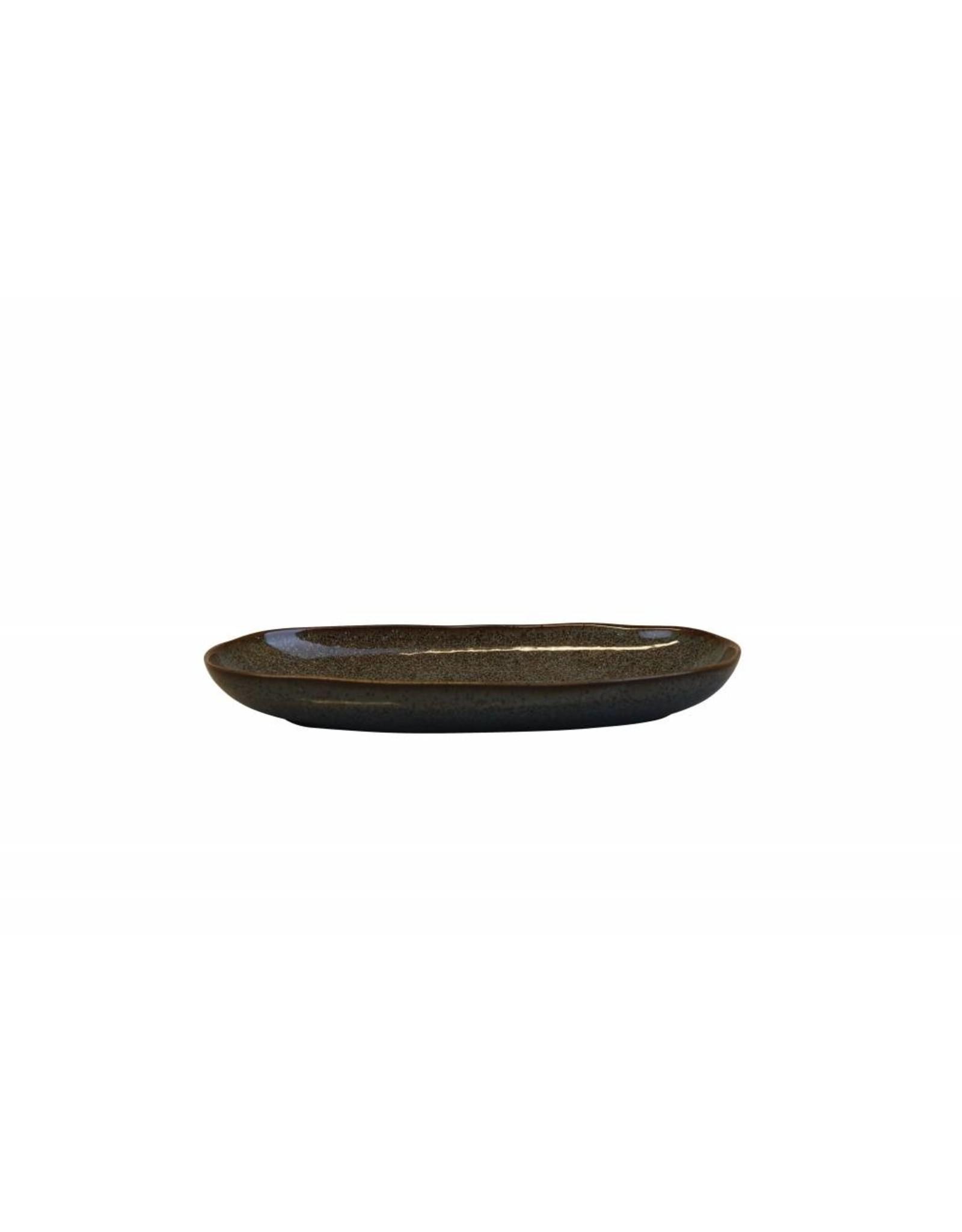 Kitchen Trend Schaal Stone ovaal klein petrol