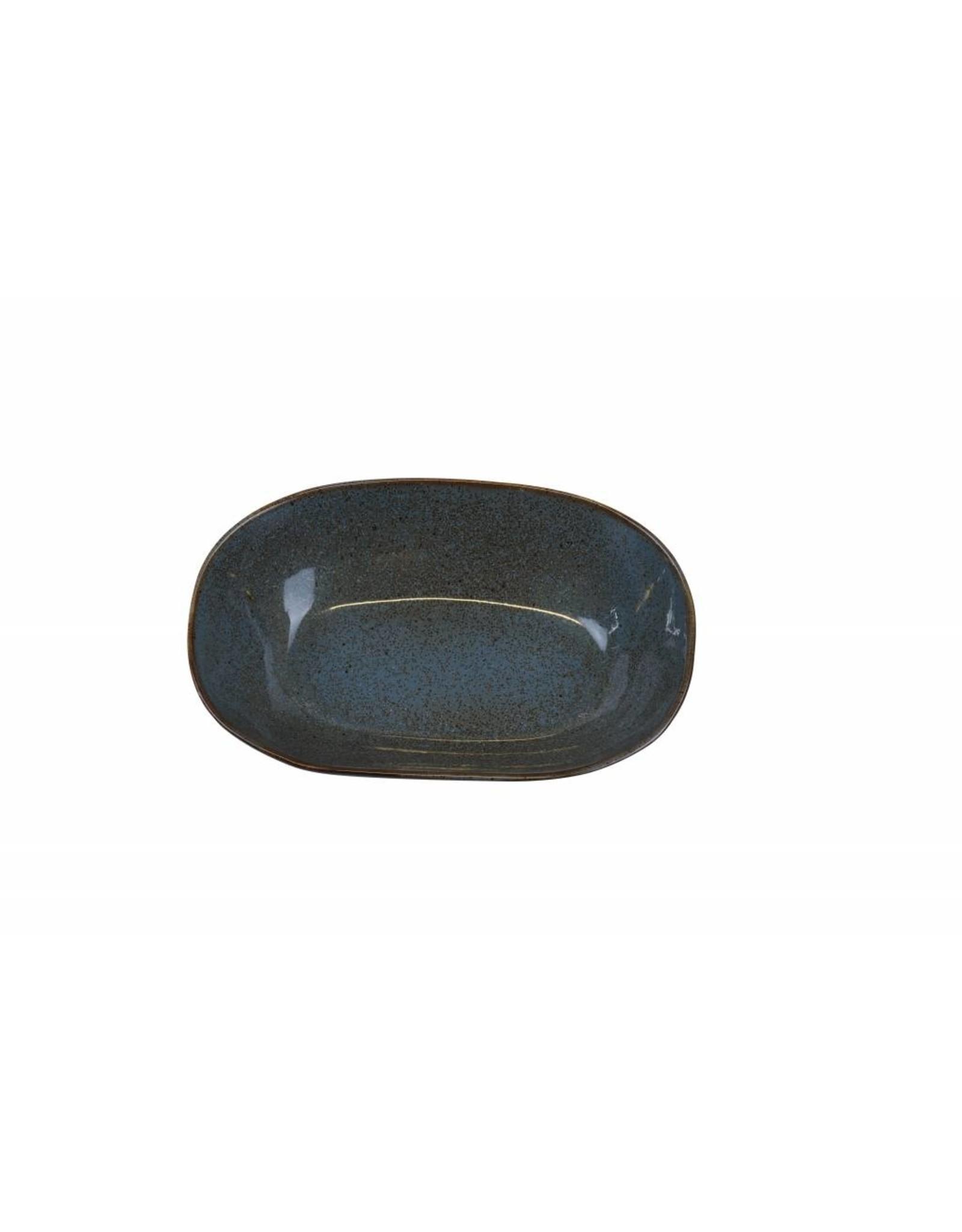 Kitchen Trend Schaal Stone ovaal diep medium petrol