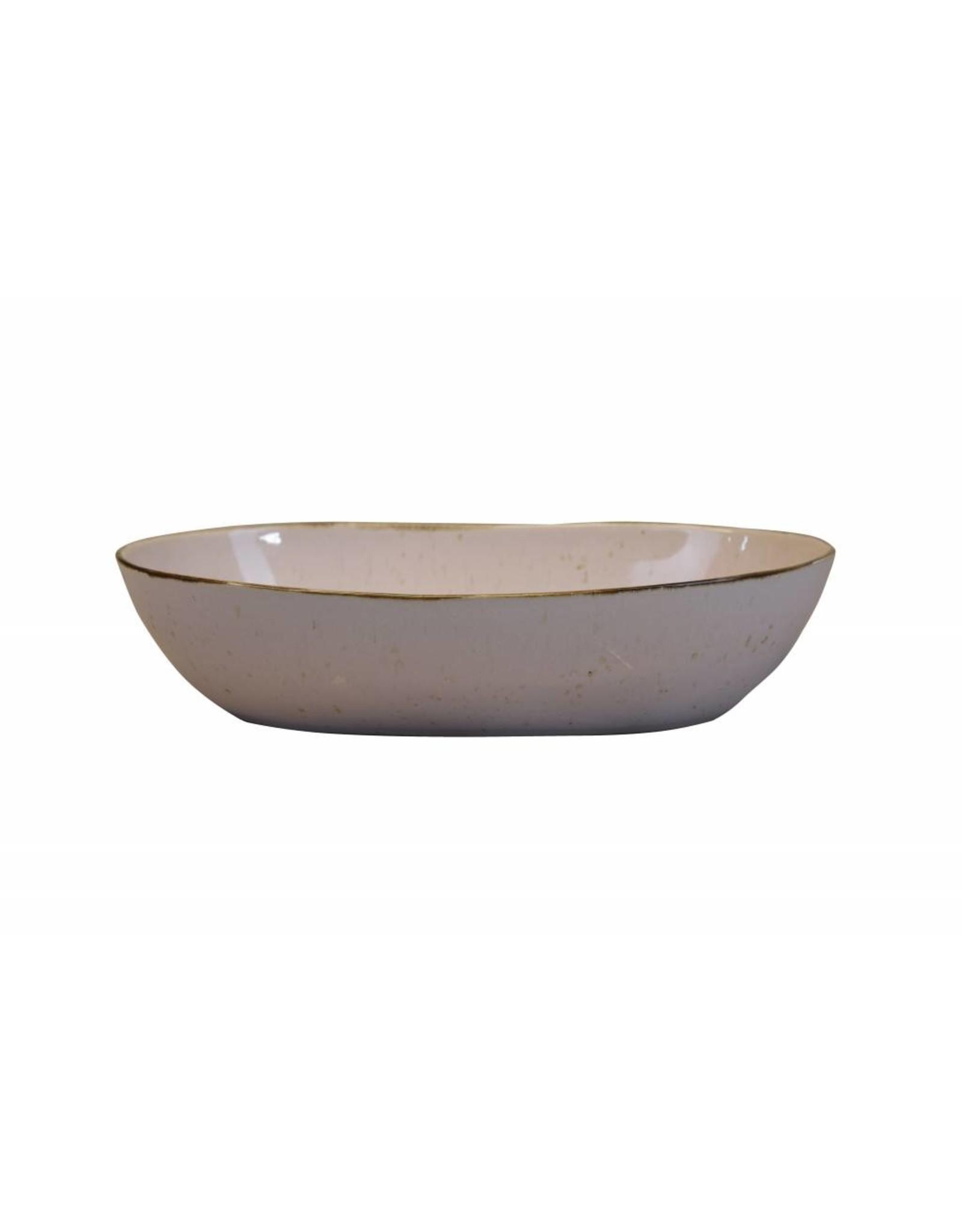 Kitchen Trend Schaal Stone ovaal diep groot lichtroze