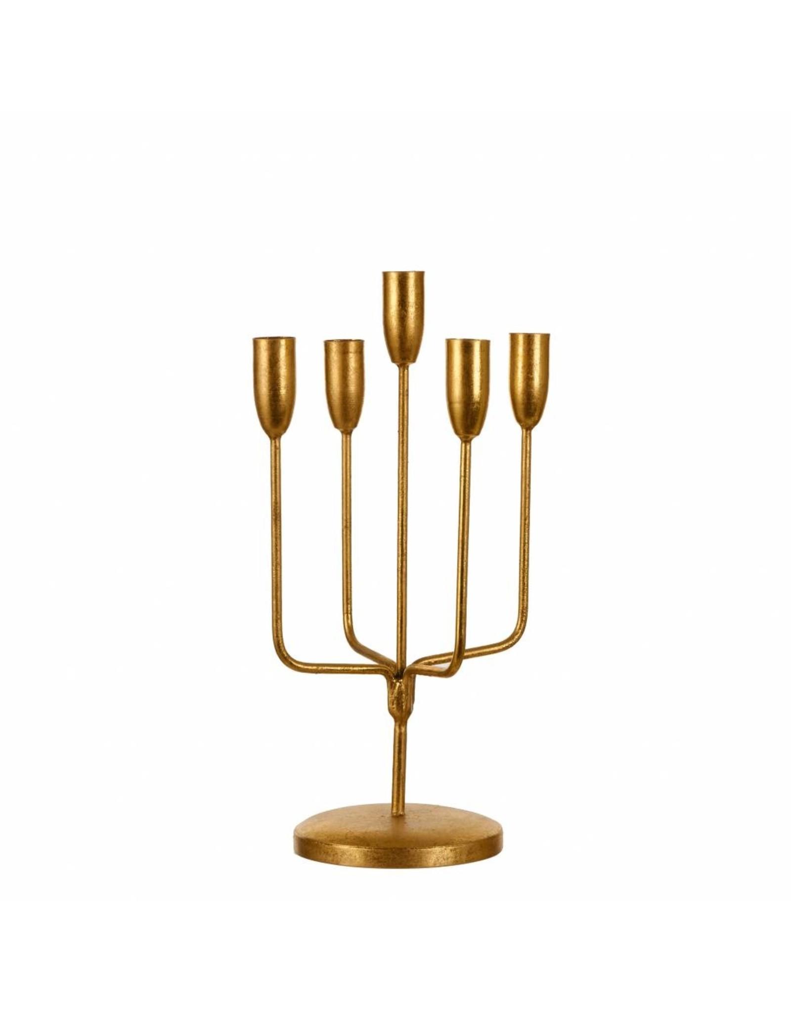 Kitchen Trend Kandelaar goud 5 arm