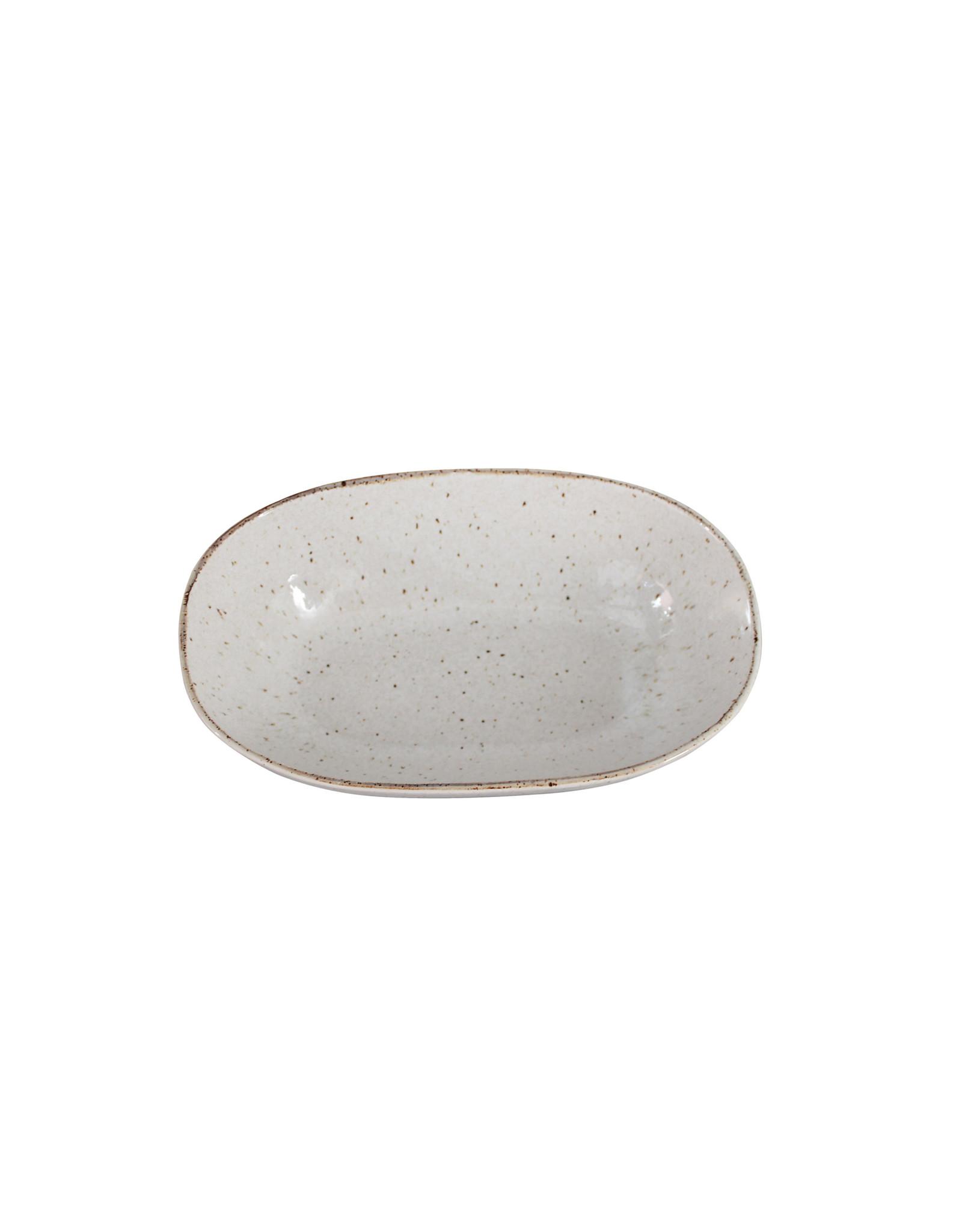 Kitchen Trend Schaal Stone ovaal diep groot creme