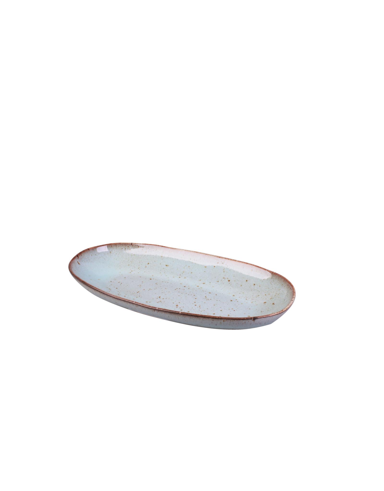 Kitchen Trend Schaal Stone ovaal klein zeegroen
