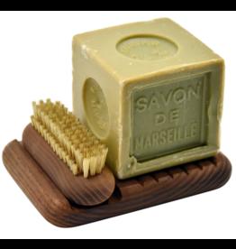 Box zeep & nagelborstel donker