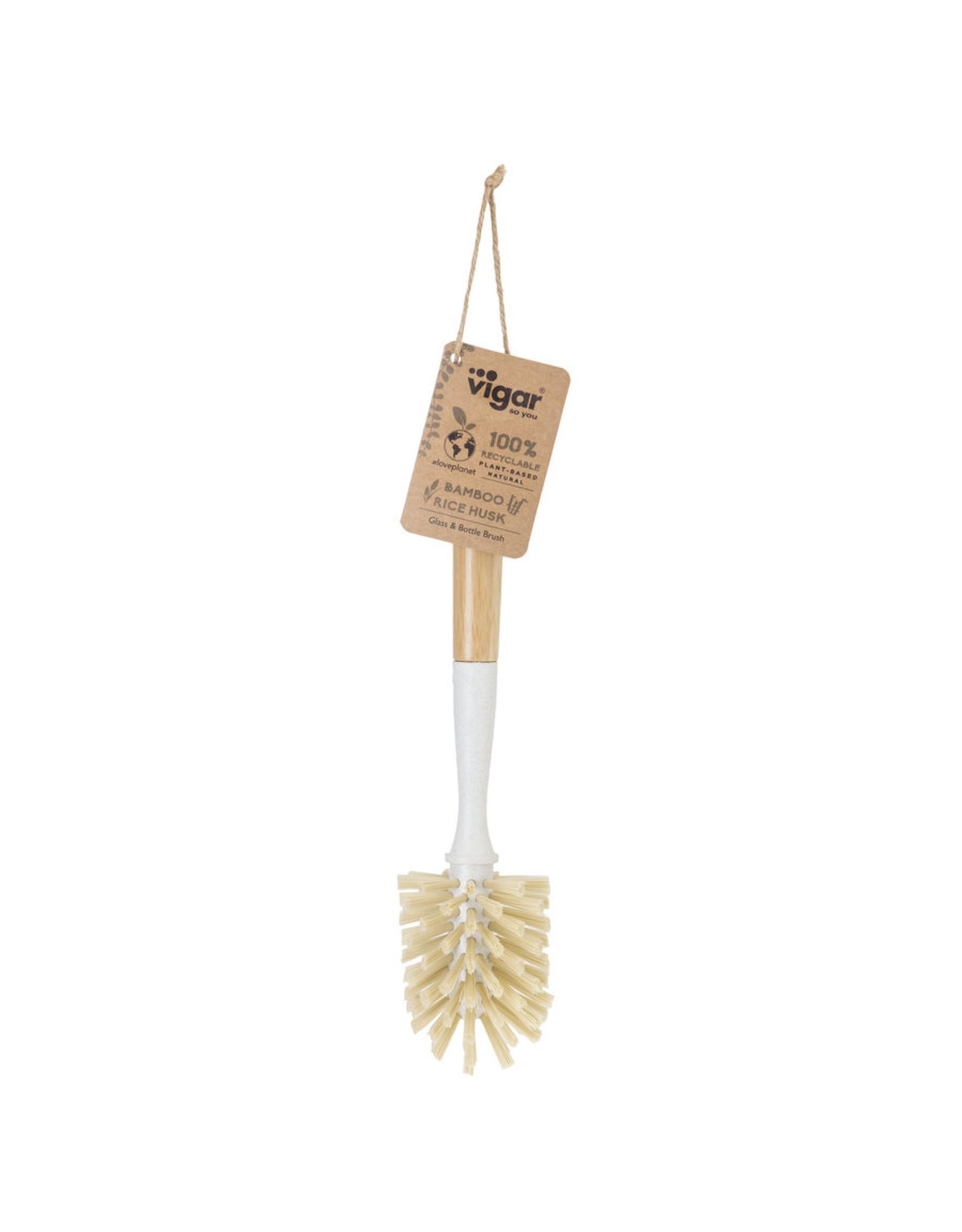 Kitchen Trend Bamboo flessen borstel lichtgrijs