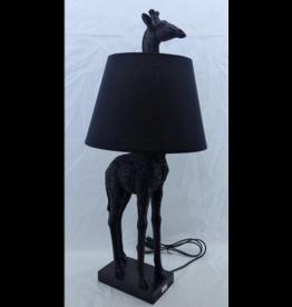 Kitchen Trend Giraf lamp staand zwart met kap