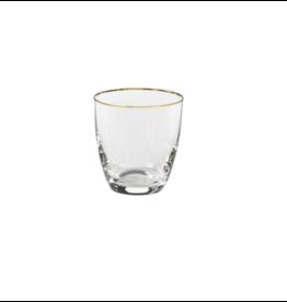 Tumbler 300 ml, SENSA, clear w/ golden rim