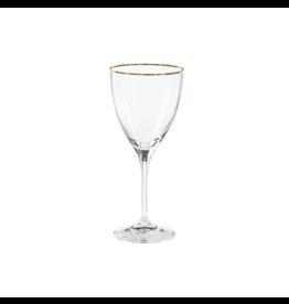 Wine glass 250 ml, SENSA, clear w/ golden rim