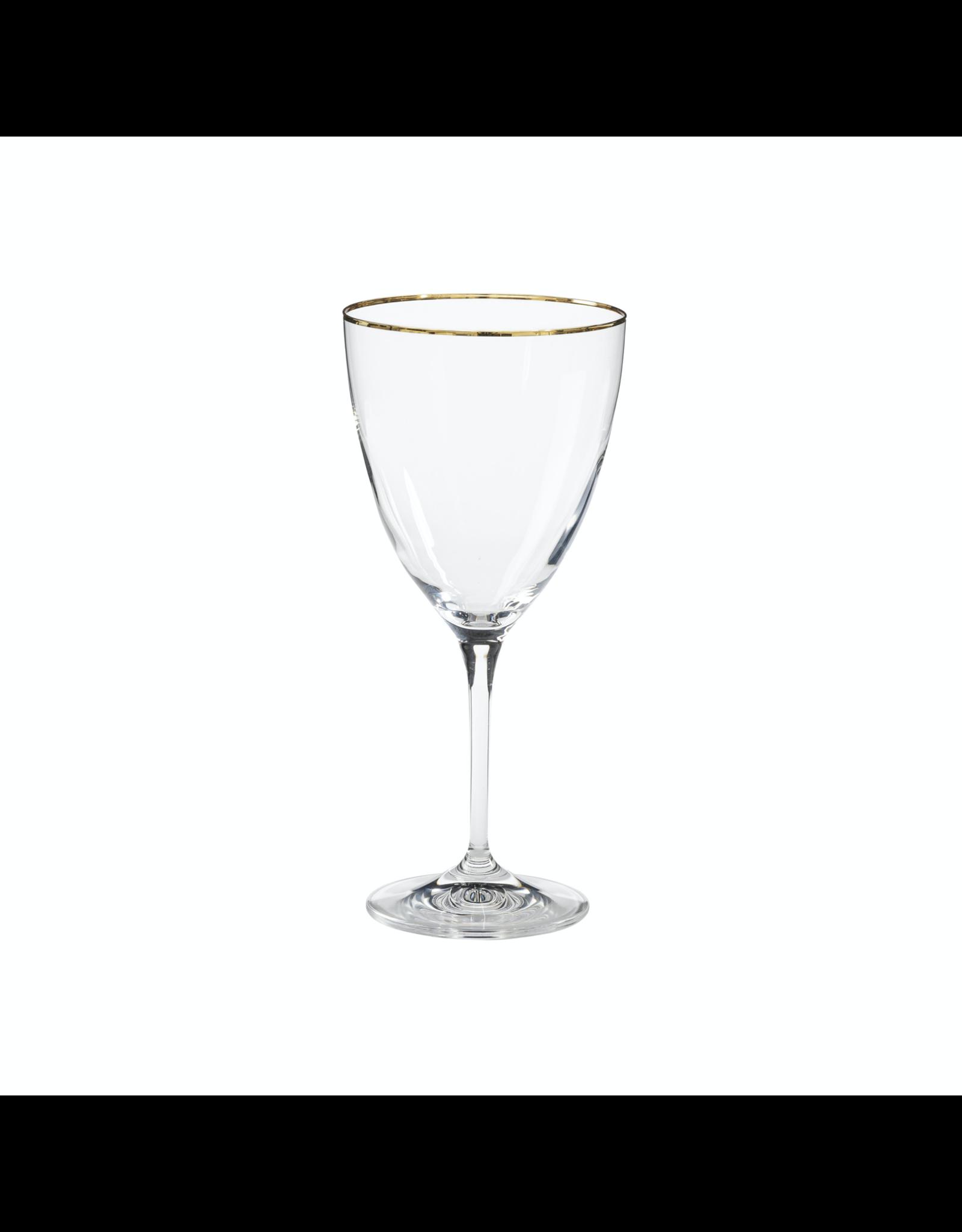 Water glass 400 ml, SENSA, clear w/ golden rim