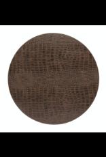 Kitchen Trend Round placemat 100% PU leer, CLUB, caramel