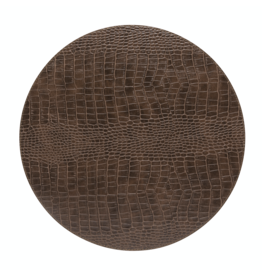Kitchen Trend Round placemat 100% PU leer, CLUB, caramel