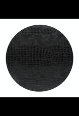 Kitchen Trend Round placemat 100% PU, CLUB, black