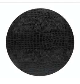 Kitchen Trend Round placemat 100% PU, CLUB, black