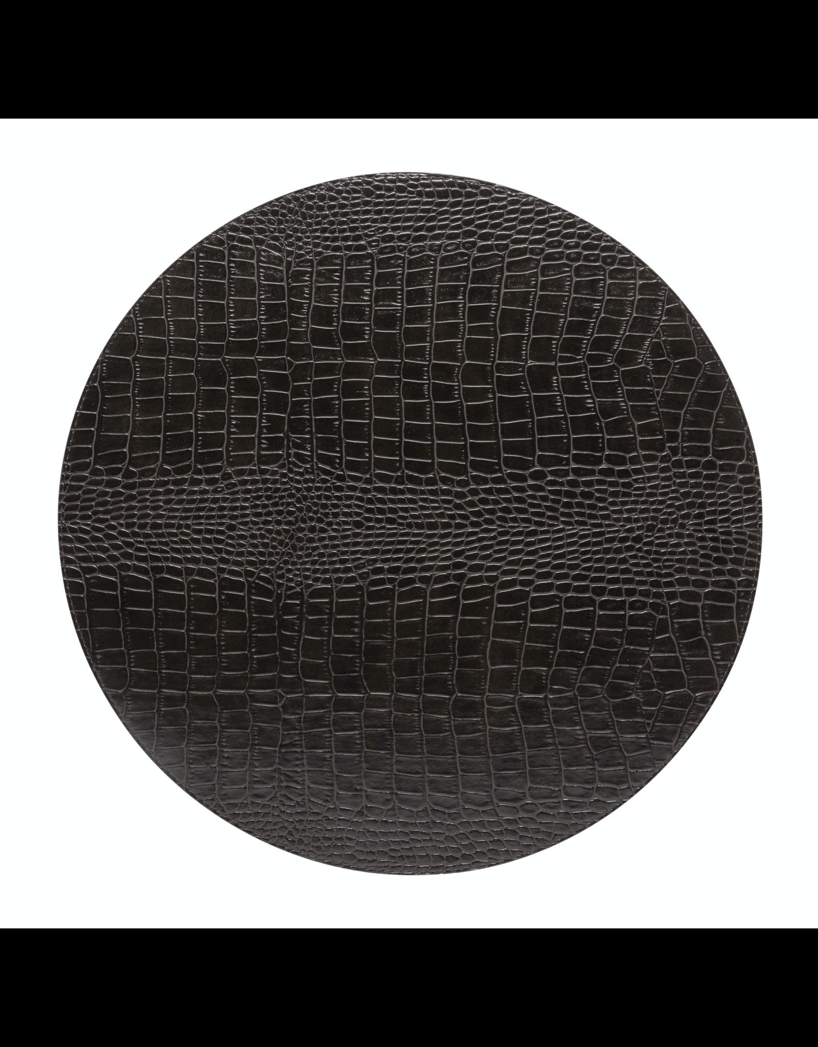 Kitchen Trend Round placemat 100% PU, CLUB, chocolate