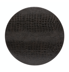 Kitchen Trend Round placemat 100% PU, CLUB, chocolate