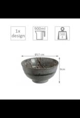 Grey Soshun Bowl 17x9cm 900ml