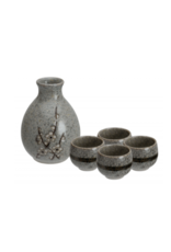 Grey Soshun Sake Set 3.7x12cm 290ml + 50ml