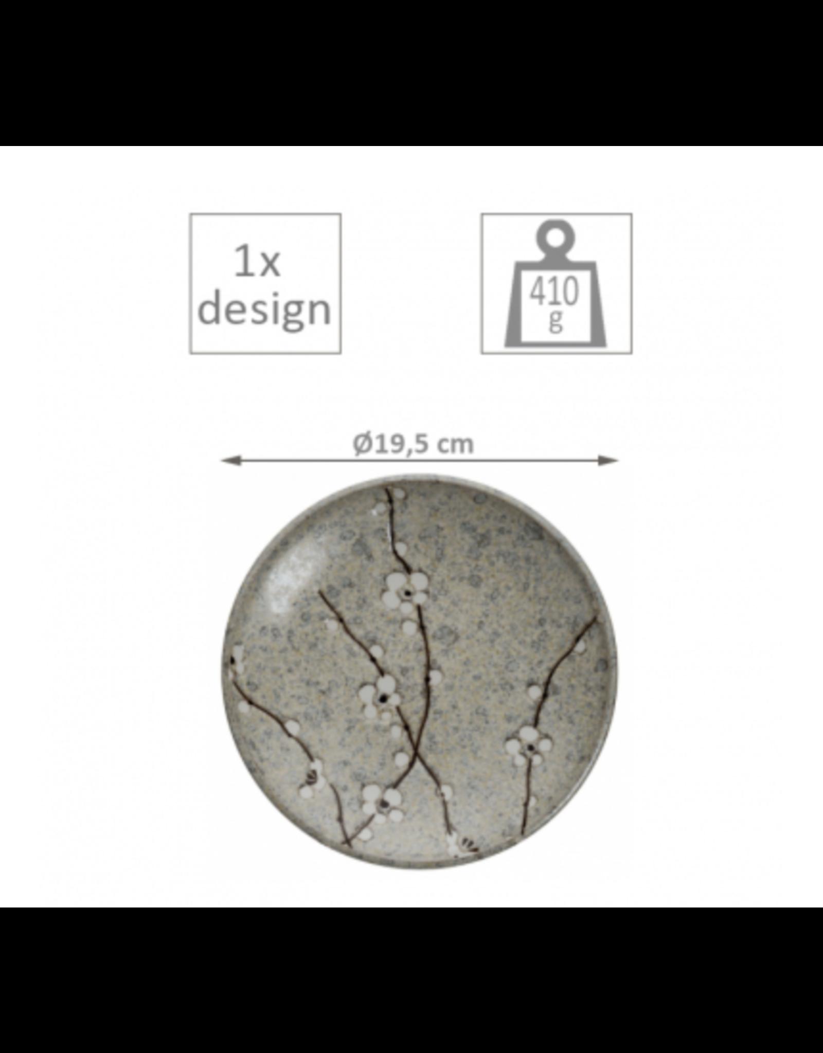 Grey Soshun Plate 19.5cm