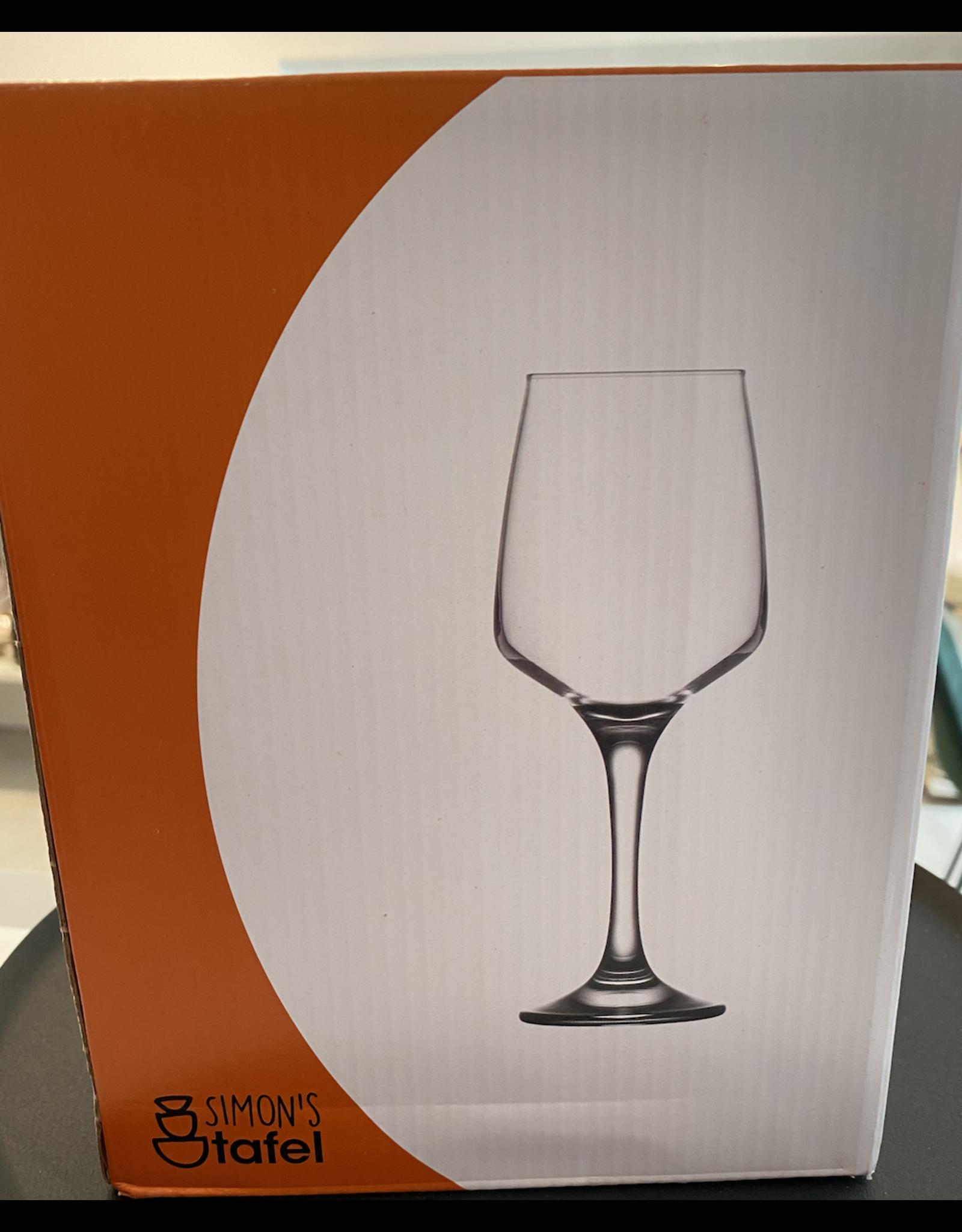 Kitchen Trend Witte wijnglas Monaco set van 4