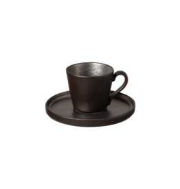 Kitchen Trend Koffiekop en schotel 0.21L Lagoa zwart