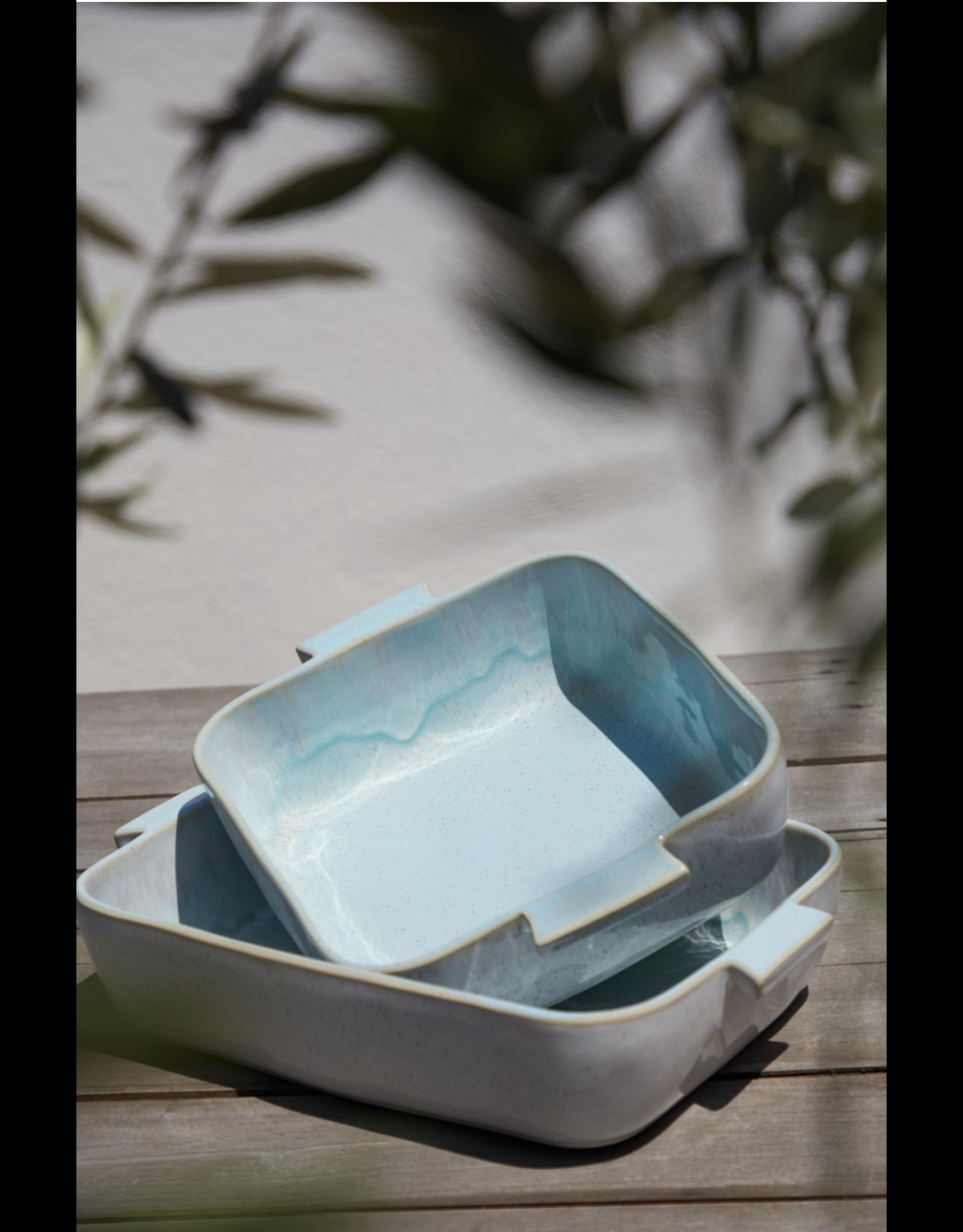 Vierkante Schaal 32cm, Ibiza, sea blue