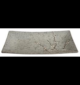 Grey Soshun Oblong Plate 35x19cm YT-9980 1/12