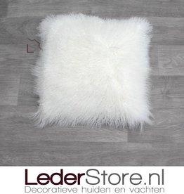 Sheepskin pillow Tibet lamb white 40x40cm