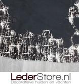 Cowhide rug black white modern 230x170cm