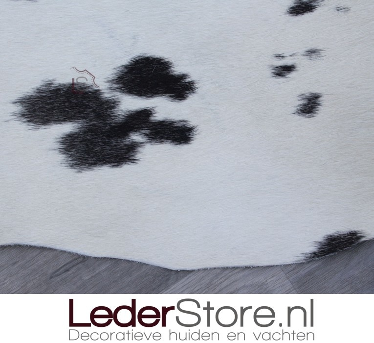 Cowhide rug grey white 235x185cm