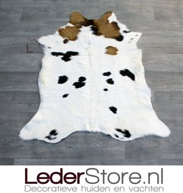 Calfskin black brown white 95x90cm