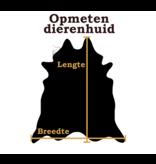 Kalfshuid zwart bruin wit 95x90cm