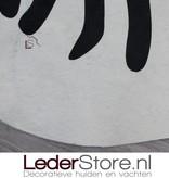 Cowhide rug zebraprint 205x180cm