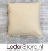 Cowhide pillow grey white 40x40cm