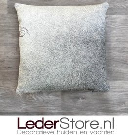 Cowhide pillow grey white 40x40cm