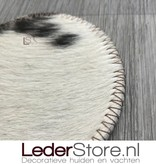 Luxury cowhide coasters mix colors 10x10cm