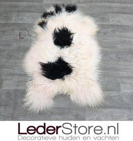 Schapenvacht zwart roze 110x65cm