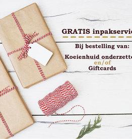 Kerstmis inpakservice voor Onderzetters & Gift cards