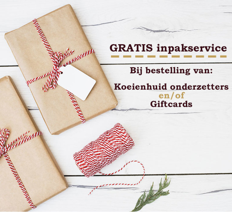 Christmas wrapping service for Coasters & Gift cards