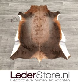 Blesbokhuid bruin wit 110x90cm