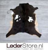 Goatskin rug brown white beige 80x70cm